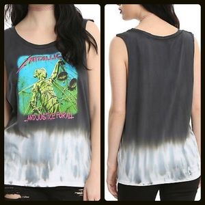 12aa19ae Hot Topic Tops | Bogo50 Metallica And Justice For All Tank | Poshmark